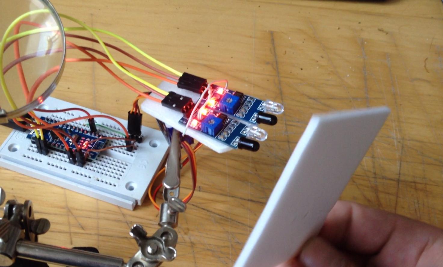 Infra IR motion tracking – sledování objektu